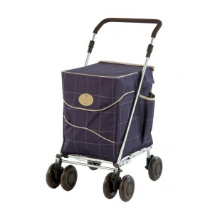 Sholley - Chariot à pousser 4 roues - Deluxe Mulberry